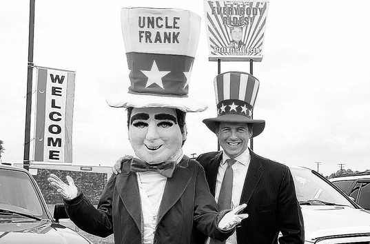 Fame For Frank Myers Auto Mascot, Commercials and Slogan ...