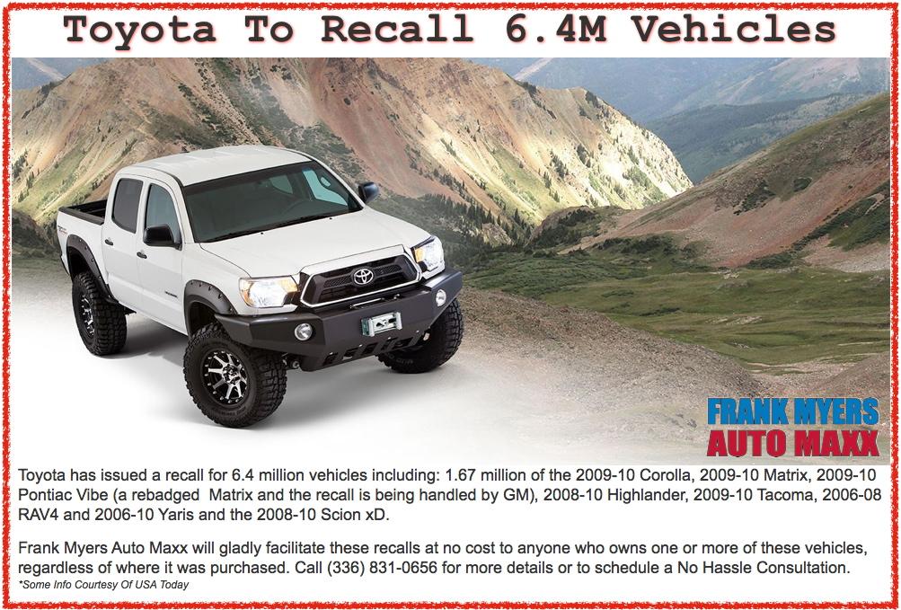 Toyota Recall Winston Salem