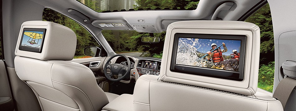 Seat-mounted DVD players